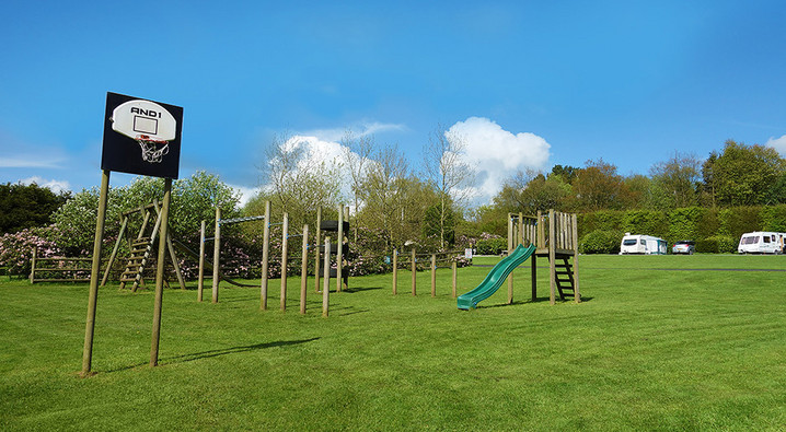 Outdoor Play Area at Lickpenny Caravan Park