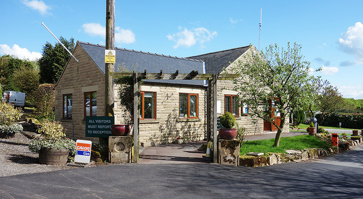 Reception and Facility Block 1 at Lickpenny Caravan Park